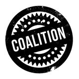Coalition rubber stamp. Grunge design with dust scratches. Effects can be easily removed for a clean, crisp look. Color is easily changed Stock Photo