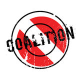 Coalition rubber stamp. Grunge design with dust scratches. Effects can be easily removed for a clean, crisp look. Color is easily changed Stock Photos