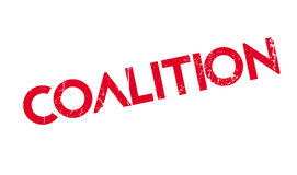 Coalition rubber stamp. Grunge design with dust scratches. Effects can be easily removed for a clean, crisp look. Color is easily changed Stock Photography