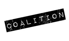 Coalition rubber stamp. Grunge design with dust scratches. Effects can be easily removed for a clean, crisp look. Color is easily changed Royalty Free Stock Photos