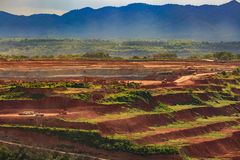 Coalmine Lignite for electricity production  lampang thailand Stock Photography