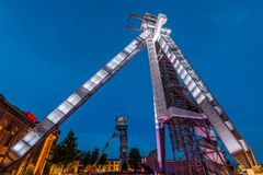 Coalmine Winterslag w Genk, Belgia Fotografia Royalty Free