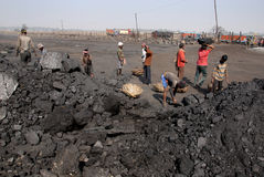 Coalminers in India Stock Image