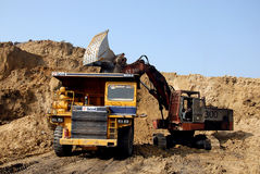 Coalmines in India Royalty Free Stock Photos