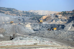 Coalmines in India. September 20,2011 Khottadih,Pandaveshwar,Burdwan,West Bengal,India,Asia-A horizontal view of a opencast mine of Pandaweswar area in West Royalty Free Stock Photos