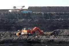 Coalmining i den öppna luften Royaltyfri Fotografi