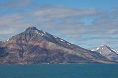 Coalmining i Isfjorden, Spitsbergen Royaltyfria Foton