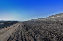 Coalmining krajobraz Obraz Stock