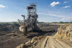 Coalmining maszyna - Kopalniany ekskawator obraz stock