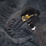 Coalmining na otwartej jamie zdjęcia royalty free