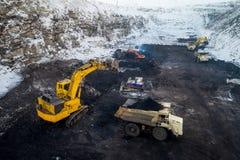 Coalmining otwarta jama Obrazy Stock