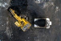 Coalmining otwarta jama Zdjęcie Royalty Free