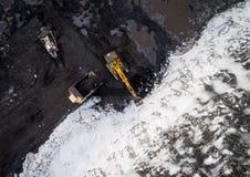 Coalmining otwarta jama Zdjęcie Stock