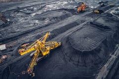 Coalmining på en öppen grop Royaltyfria Foton