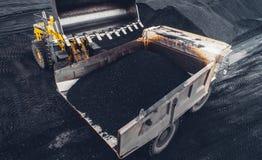 Coalmining på en öppen grop Royaltyfri Bild