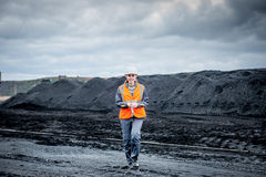 Coalmining pracownik Obraz Royalty Free