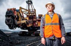 Coalmining pracownik Zdjęcie Stock