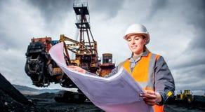Coalmining pracownik Zdjęcie Royalty Free
