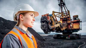 Coalmining pracownik Zdjęcia Royalty Free