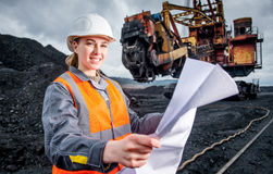 Coalmining pracownik Obrazy Royalty Free