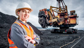 Coalmining pracownik Zdjęcia Stock