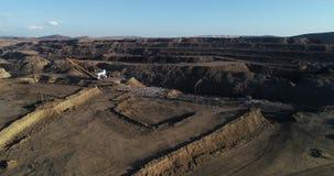Coalmining przy otwartą jamą zbiory