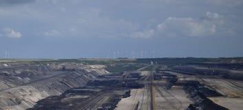 Coalmining w otwartym sposobie Fotografia Royalty Free