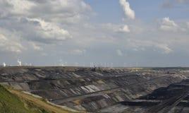 Coalmining w otwartym sposobie obraz stock