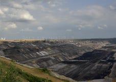 Coalmining w otwartym sposobie Fotografia Stock