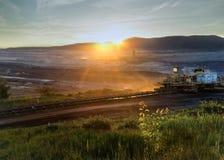 Coalmining w łupie obrazy stock