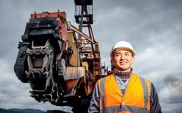 Coalminingarbetare arkivbild