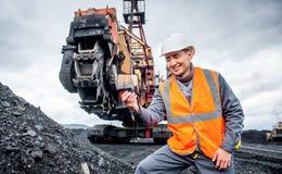 Coalminingarbetare royaltyfri bild