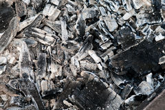 Coals in the ash Royalty Free Stock Photos