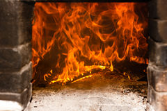 Coals and ashes. Burning fire Royalty Free Stock Images