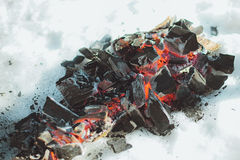 Coals. Royalty Free Stock Photo