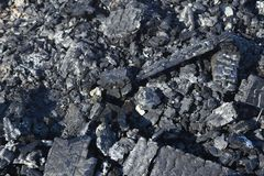 Coals of a burnt fire royalty free stock photos