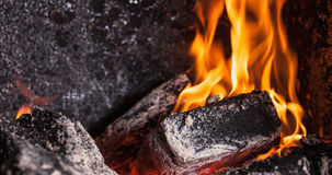 Coals close up Royalty Free Stock Images