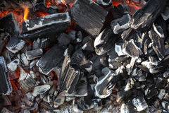Coals close up Royalty Free Stock Photos