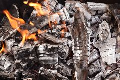 Coals for cooking Stock Photography