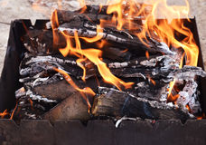 Coals for cooking Royalty Free Stock Photos