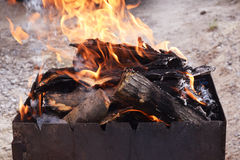 Coals for cooking Stock Photos
