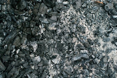 Coals in an extinct fire Stock Photos