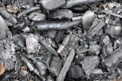 Coals in an extinct fire Stock Photography