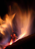 Coals on Fire. Red Hot Burning Coals on fire Royalty Free Stock Photography