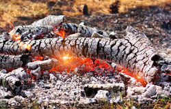 Coals in the fire Royalty Free Stock Photography