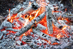 Coals in the fire Stock Photos