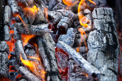 Coals and fire Stock Photography