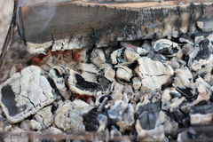 Coals in the fire. Royalty Free Stock Images