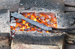 Coals in the forge Royalty Free Stock Photography