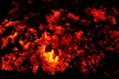 Coals. Looking at these burning coals it becomes warm Stock Photo